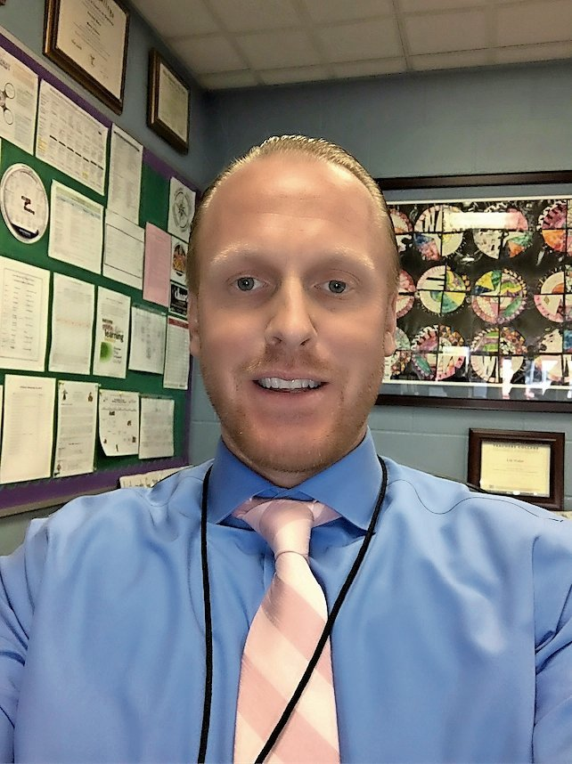 Erik Walter stepped down as Rhame Avenue Elementary School principal to become the principal at Riverside Elementary School in his native Rockville Centre.