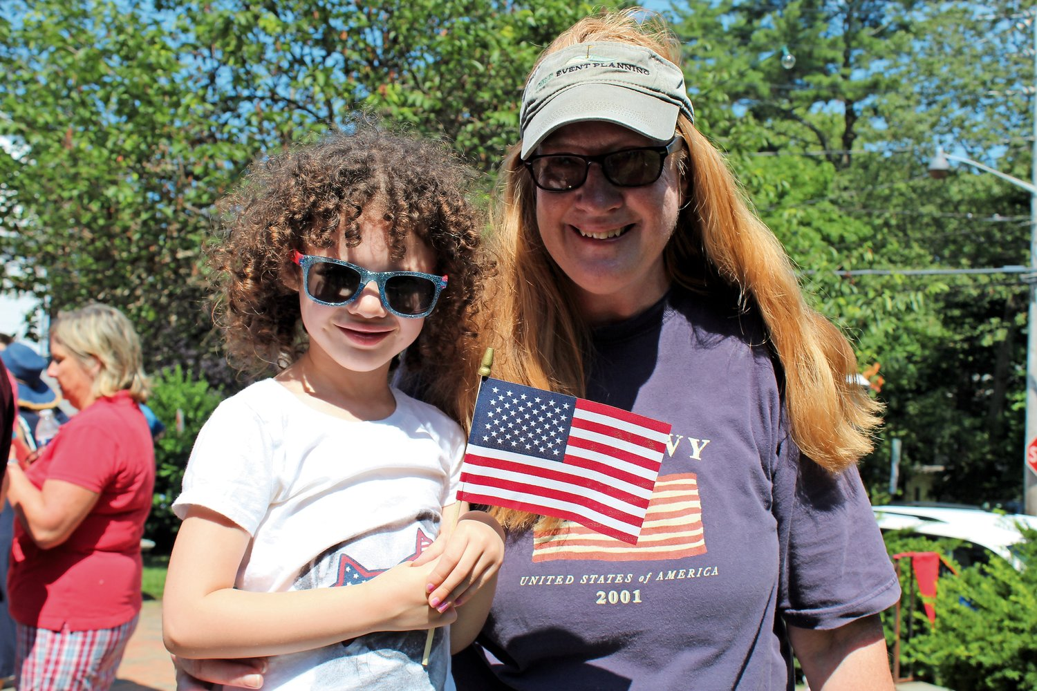 Anna Welch-Ford, 5 ½, comes from Virginia every Fourth of July to visit her aunt Kathy Haley, who lives in Sea Cliff.