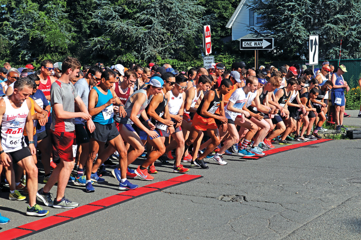 Ready, set, run! More than 660 runners stepped off from Pettit Avenue on July 4 for the annual Independence Day Run. It was the second largest turnout in the event's history.
