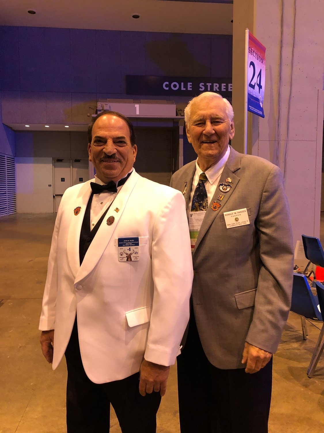 Nuzzi and Past District Deputy Grand Exalted Ruler Ronald Hansen at the Elks Convention in St. Louis.