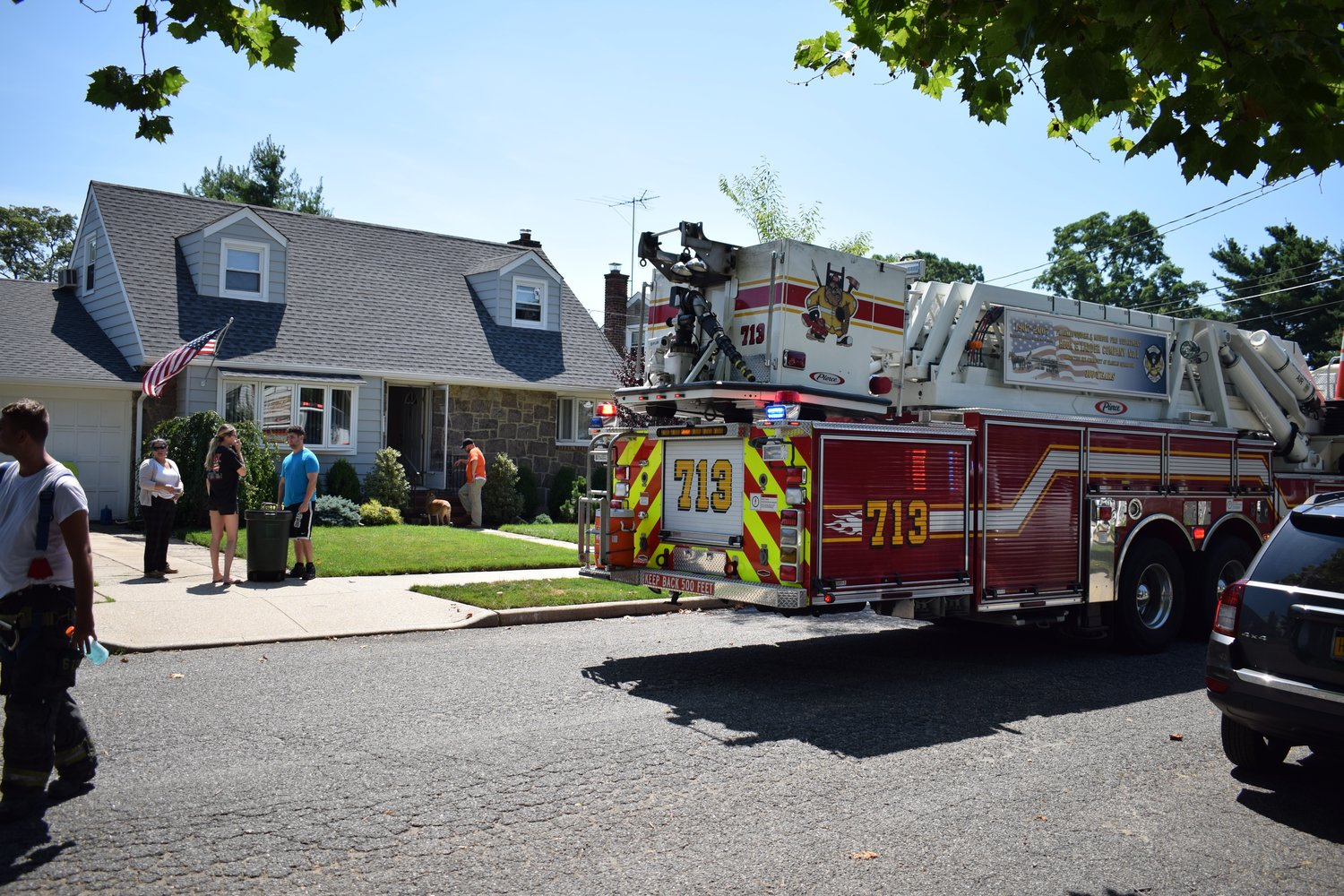 The Franklin Square Fire Department was at the scene of a basement fire that occurred on Fendale Street.