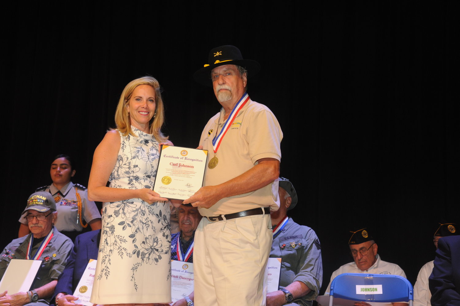 West Hempstead resident and Vietnam veteran Carl Johnson was honored with the Veterans Medal by Town Supervisor Laura Gillen on June 29.