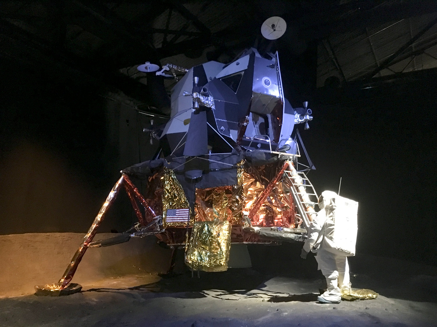 An example of a lunar module that would have been used during Apollo 18, 19 or 20 missions.