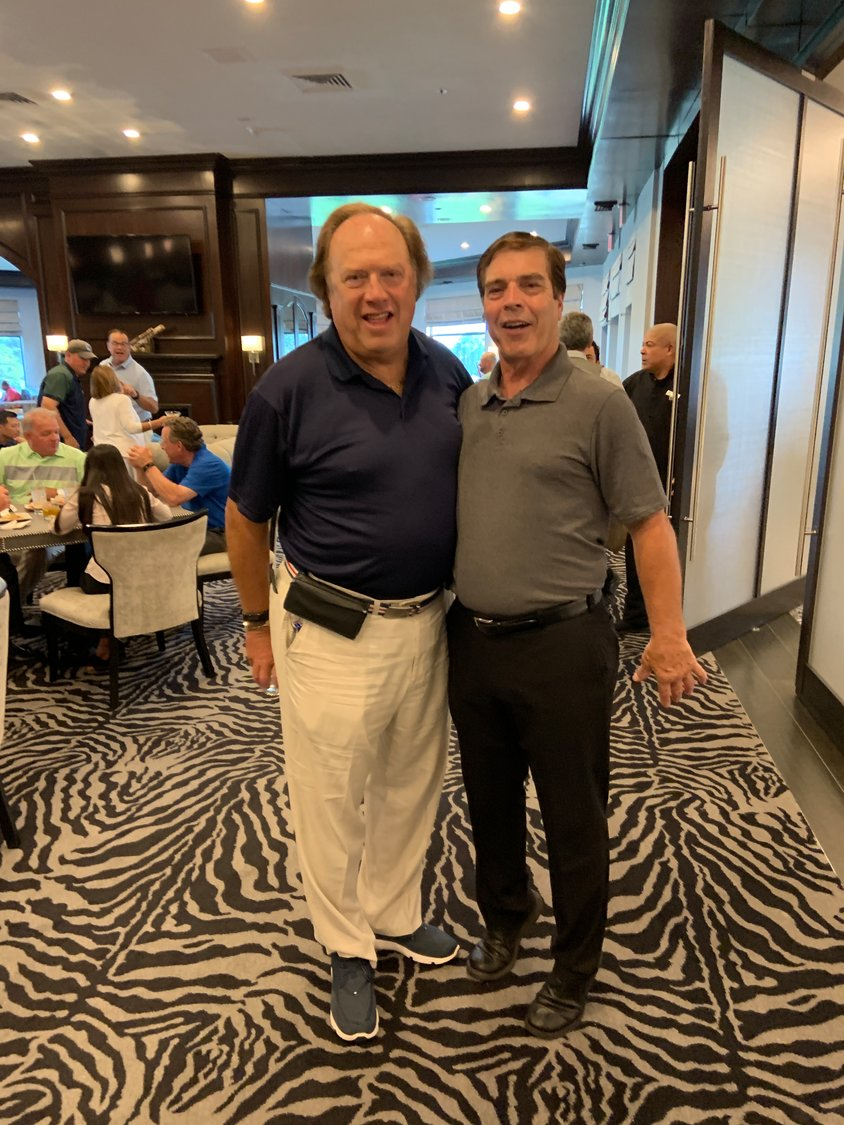 The Lynbrook Mayor's Golf Outing took place on July 8 at the Seawane Country Club in Hewlett Harbor. Event organizer Jeffrey Greenfield, left, and Mayor Alan Beach were in good spirits at the event.