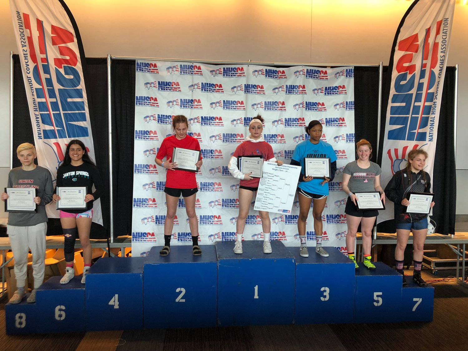 Ally Fitzgerald recently became the first female to win the NHSCA High School Nationals in Virginia Beach.