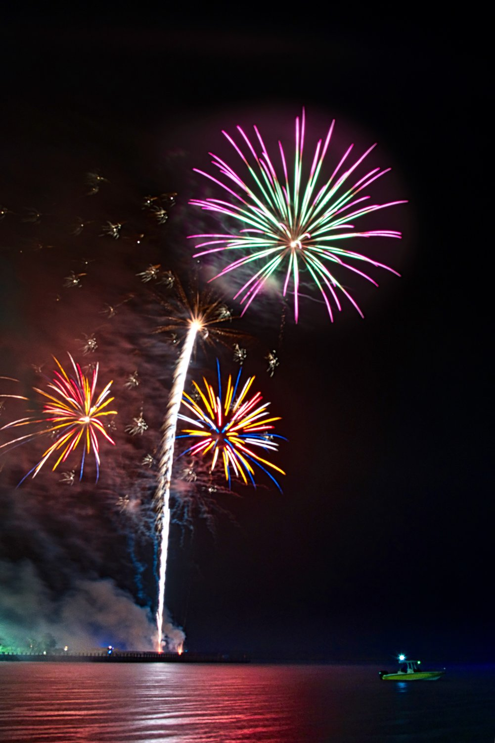 Despite the rain, the Village of Freeport and the Freeport Chamber of Commerce held their annual Fourth of July fireworks show on July 11.