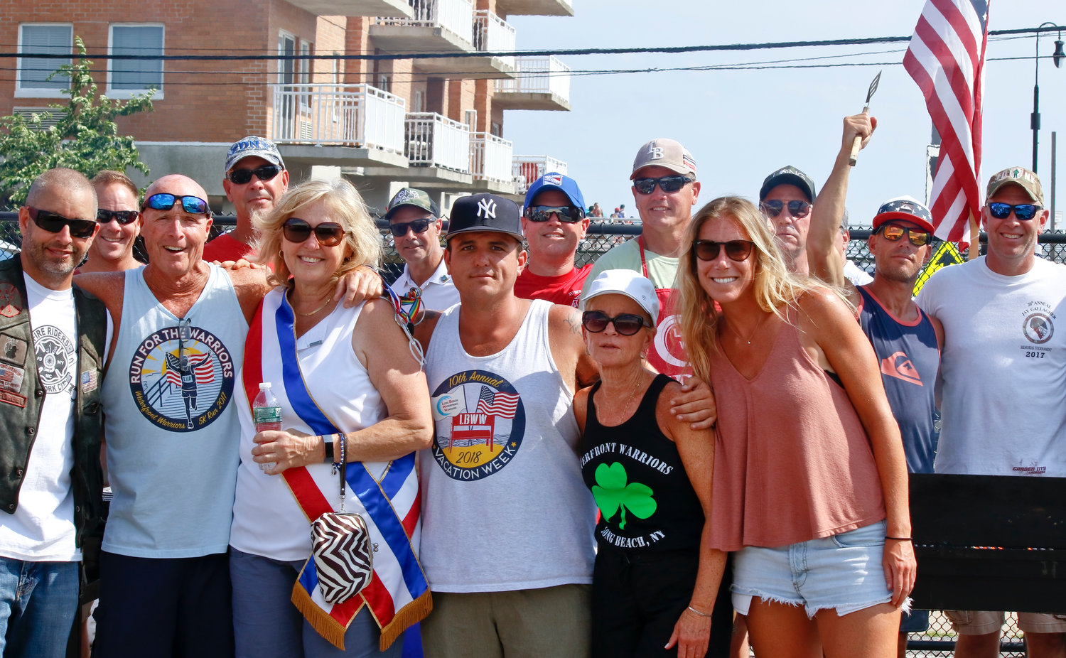 Veterans, FDNY, Waterfront Warriors, and locals gathered after the parade to enjoyed barbecue and live music