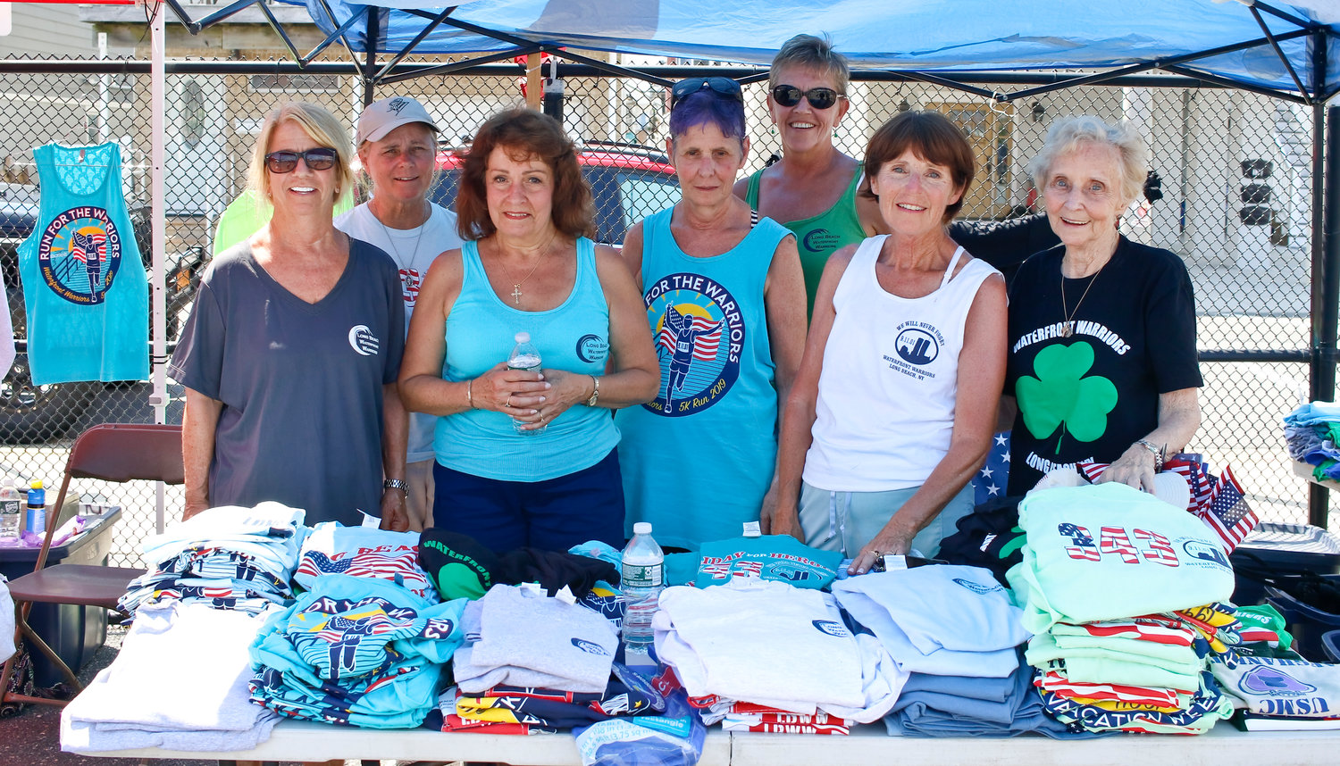 The T-Shirt Team raised money for the organization at the barbecue and sold Waterfront Warrior and veteran-themed merchandise.