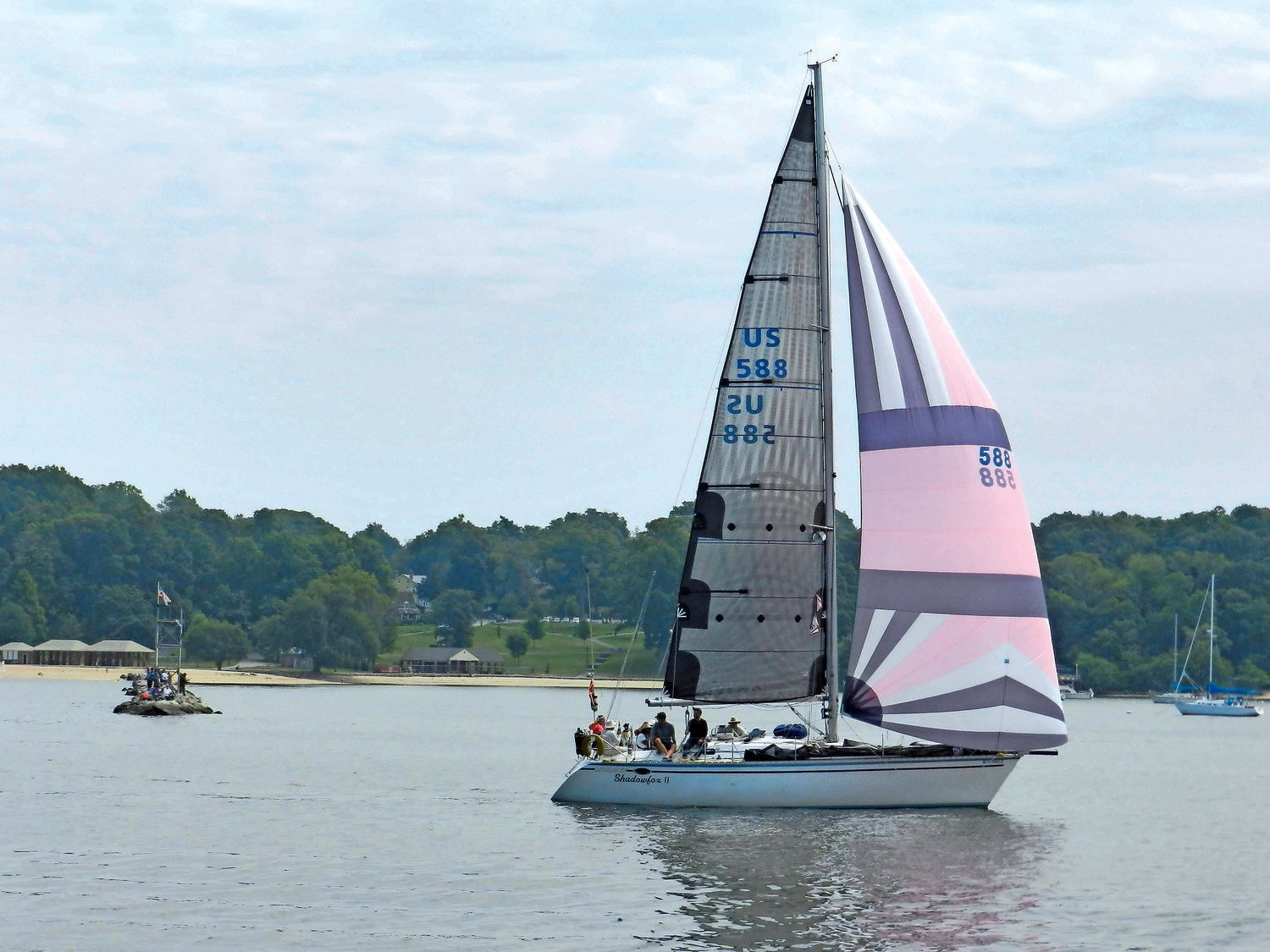 A Spinnaker Shadowfox placed fifth in the regatta's Division 4.