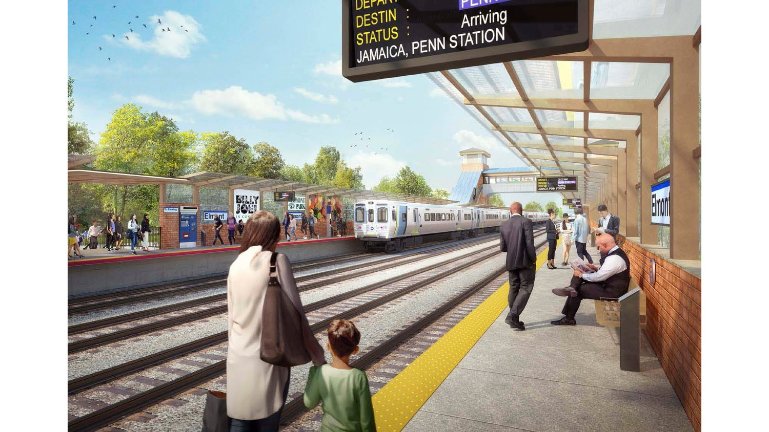 The planned Elmont Long Island Rail Road station is expected to open eastbound service in 2021 and westbound service in 2022.