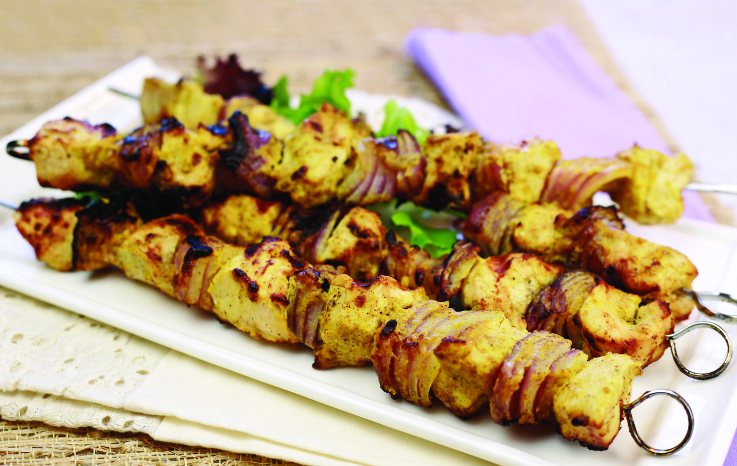 Kabobs are a simple way to enjoy many of your favorite fresh flavors — with their easy preparation and quick cooking time.