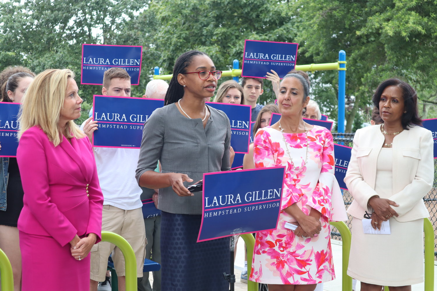 Shari James is running to represent her hometown of the Valley Stream and the Elmont area.