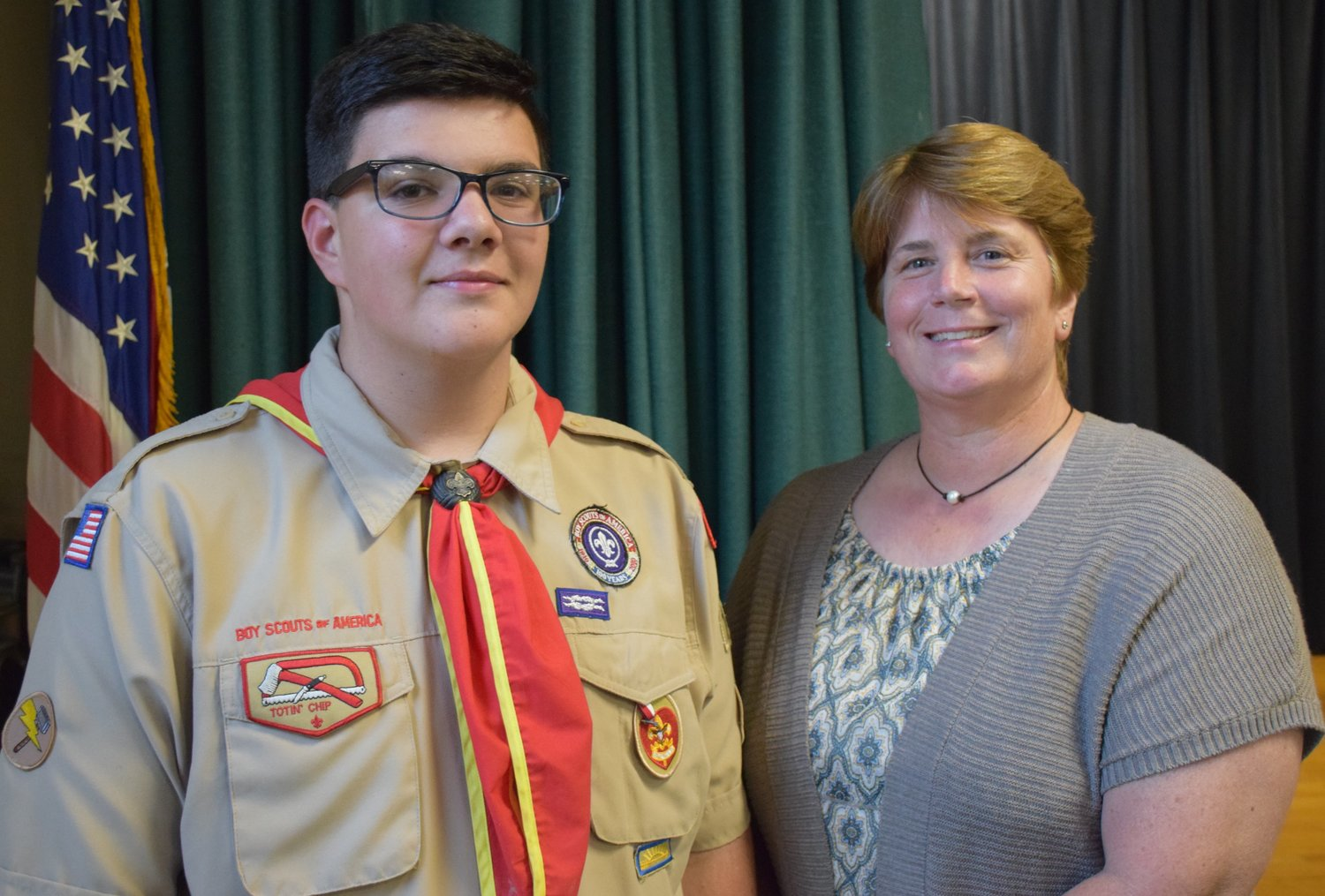 "Nicholas Carrano's Eagle Scout project — a remodeling of Park Avenue's 9/11 memorial garden — was approved at the July 1 North Bellmore Board of Education meeting. Principal Eileen Speidel said the project was a ""long time coming."""