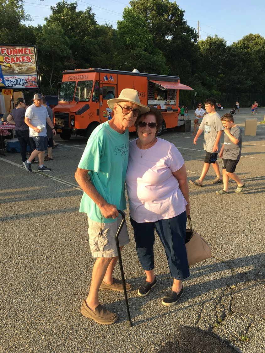 Alex and Eileen Chiorazzi, of Seaford, came to the event on Saturday to eat dinner.