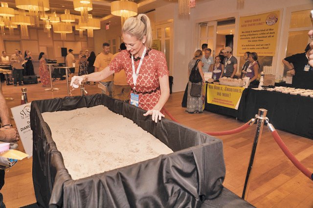 "Nicki sprinkled the sandpit with bling at last year's ""diamond dig."" Film festival-goers can participate at this year's Taste on the Plaza and Casino Night."