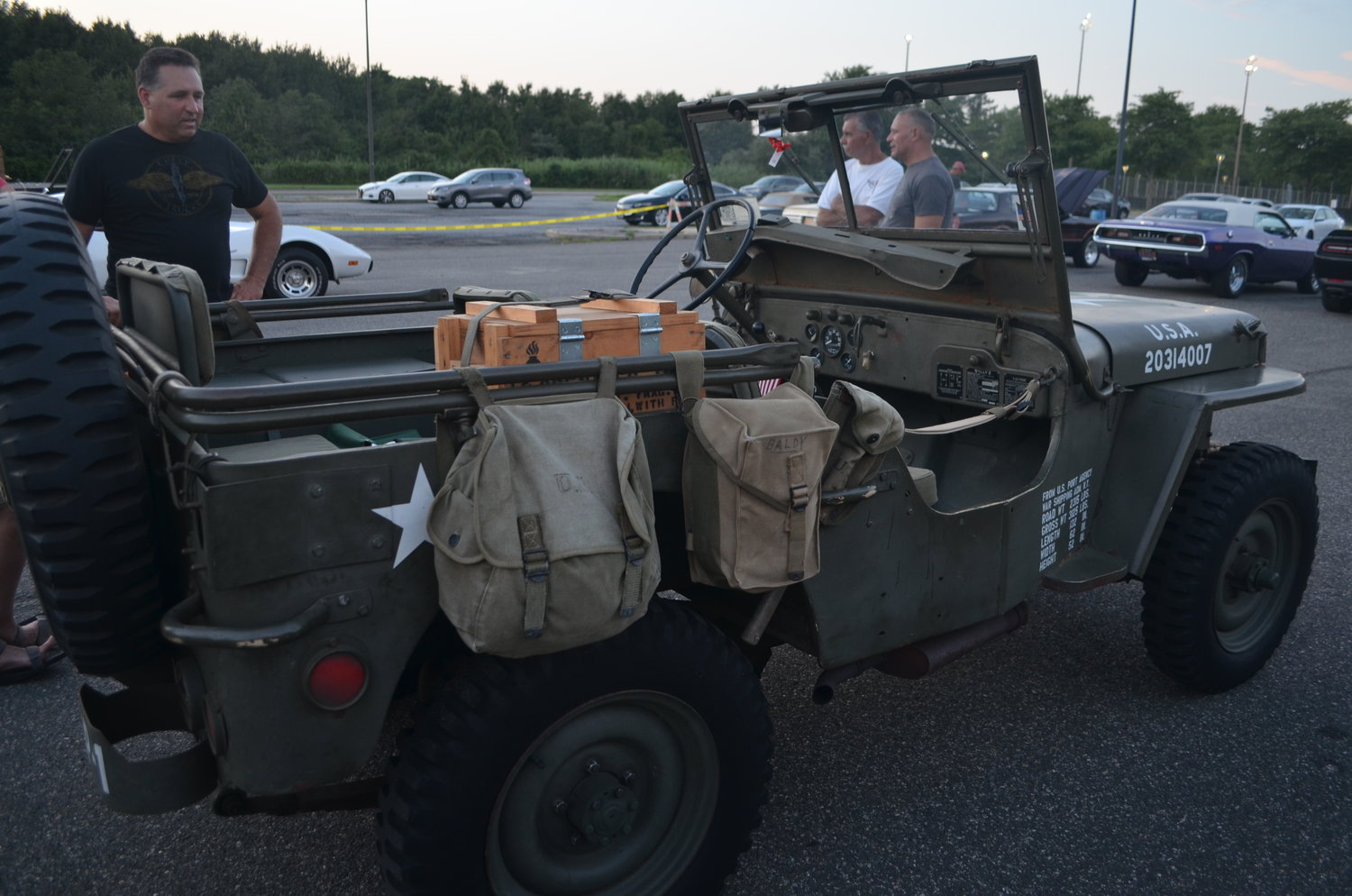Oceanside resident Paul Randazzo presented his World War II design military jeep.