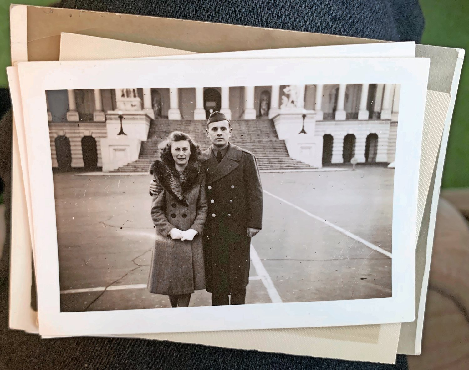 Conlin with his wife, Peggy, outside the U.S. Capitol in an undated photo.