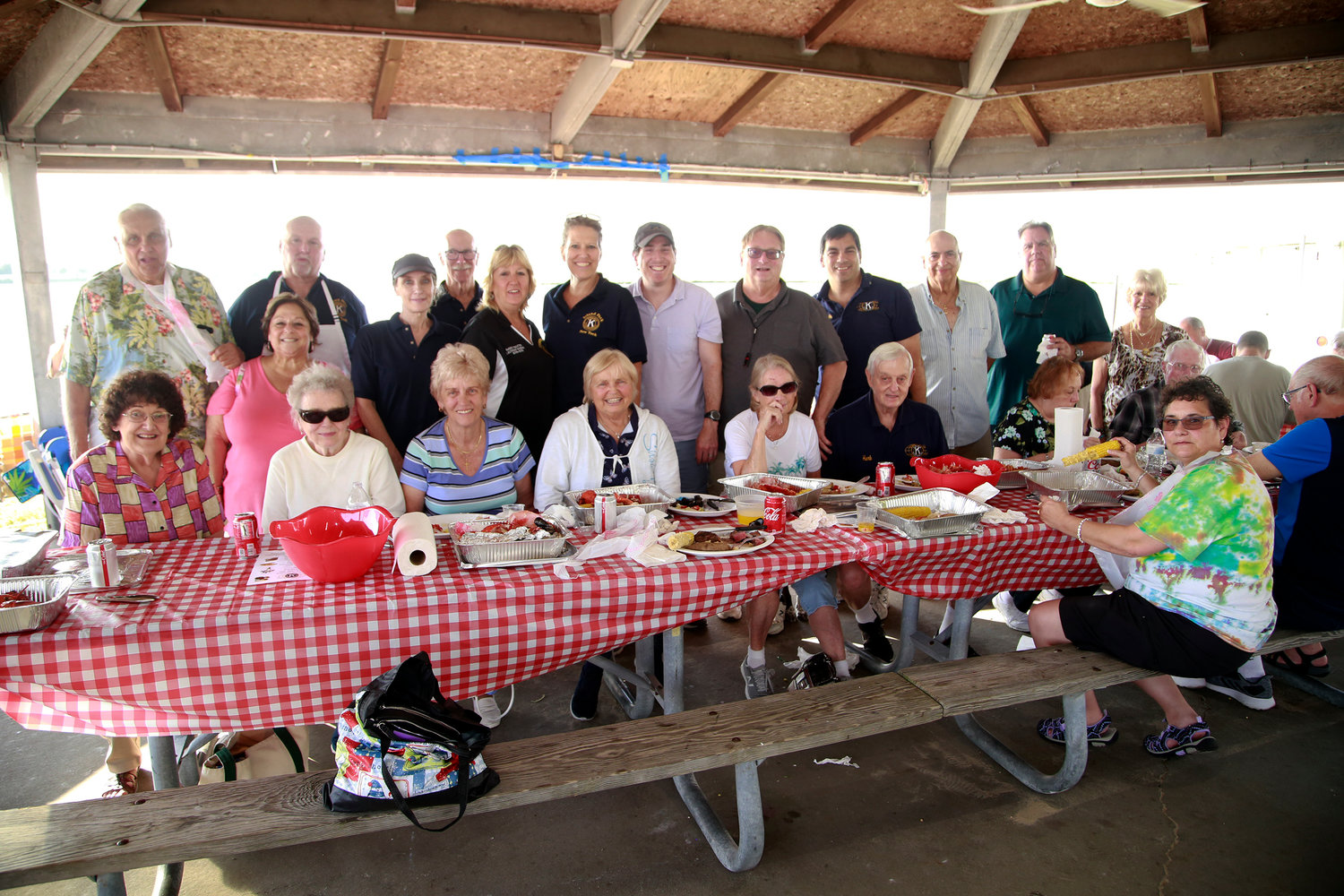 The Island Park Kiwanis Club hosted its annual steak and lobster bake at Masone Beach on Friday.