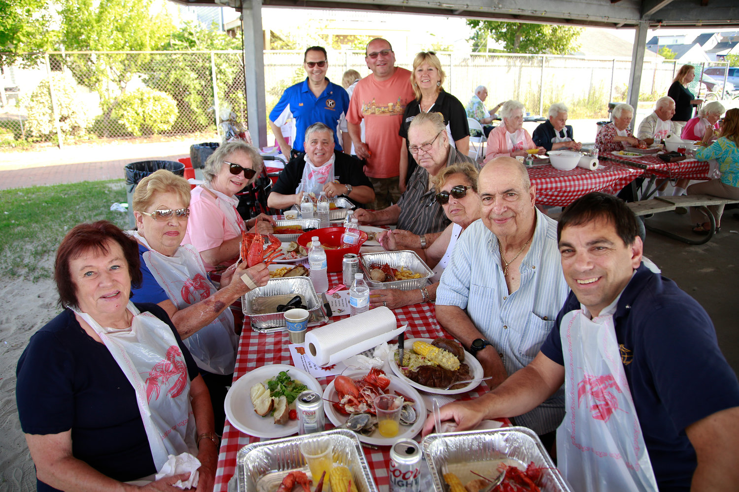 More than a dozen Kiwanians enjoyed the festivities.