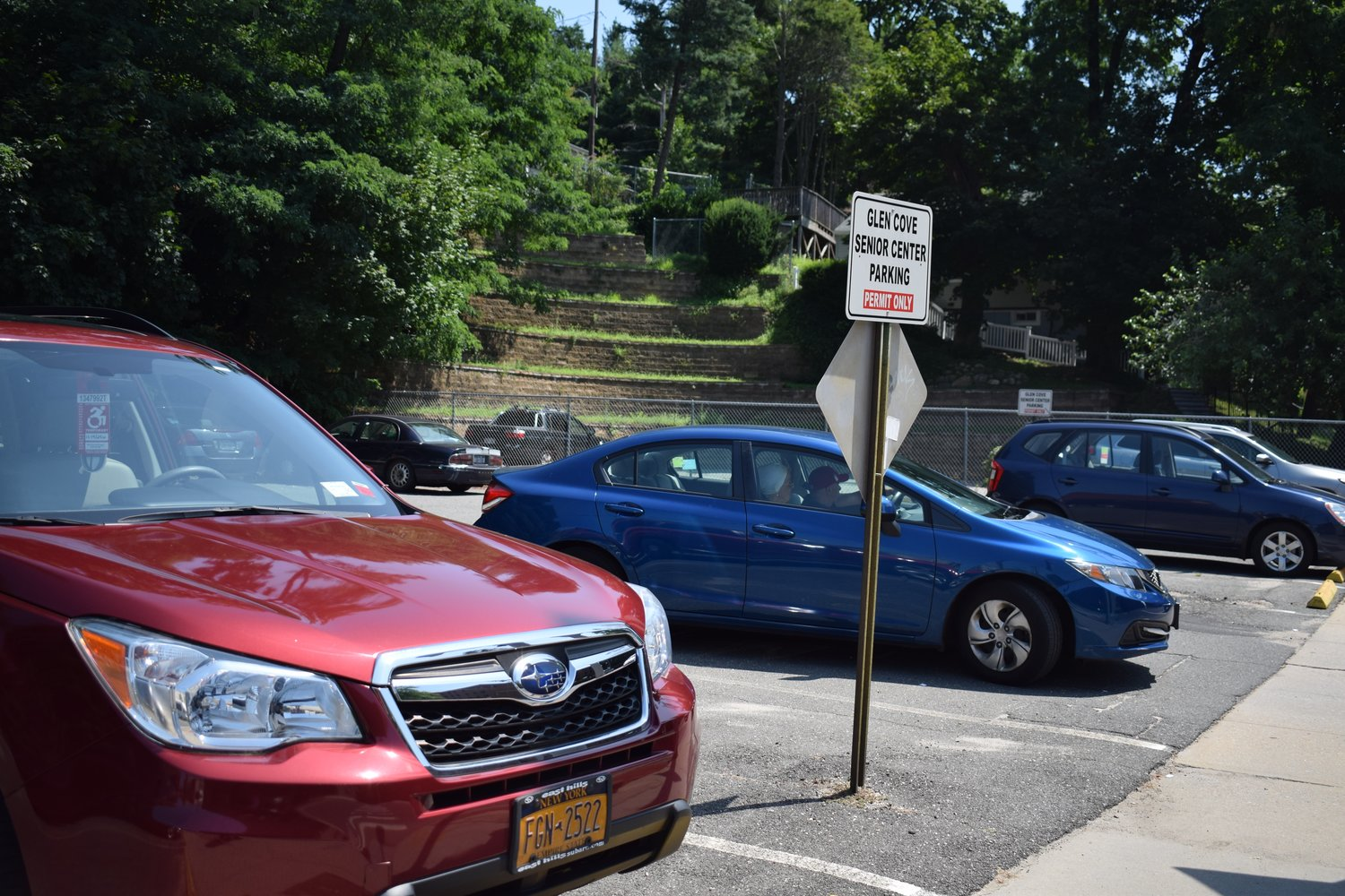 The City of Glen Cove filed an appeal on July 23 to continue to lease 18 parking spaces for the senior center.