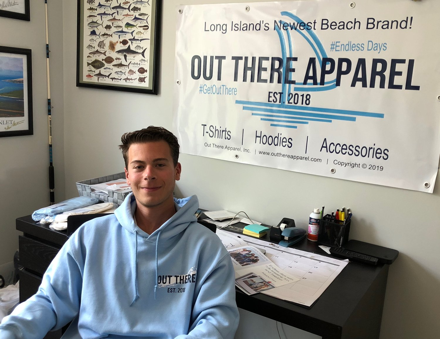 Oceanside resident Anthony Capellupo, 21, co-founded the Out There Apparel clothing line to express his passion for the outdoors.