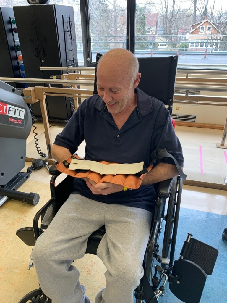 Brofsky had to use a wheelchair before the operation, and spent five weeks at Glen Cove Hospital learning to walk and eat again.