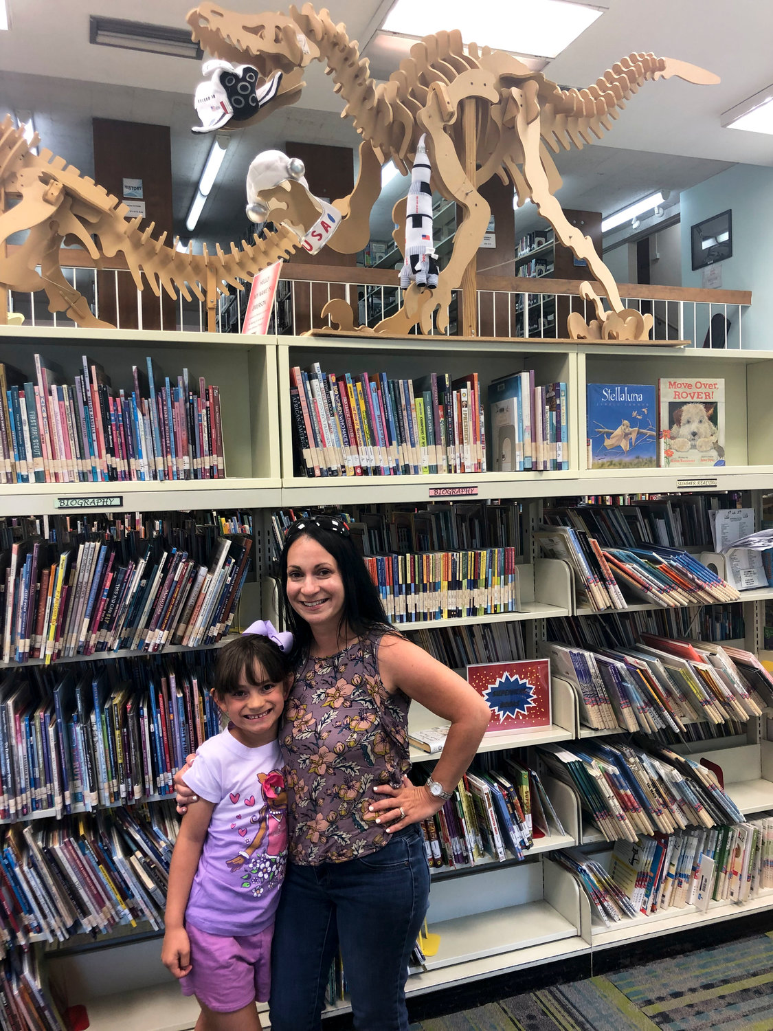Six-year-old Ava Scopinich and her mother, Danielle, were among the first in the county to finish the Library Tour Challenge.