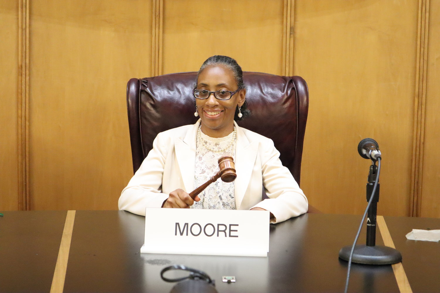 Anissa Moore was elected as president of the City Council on August 6.