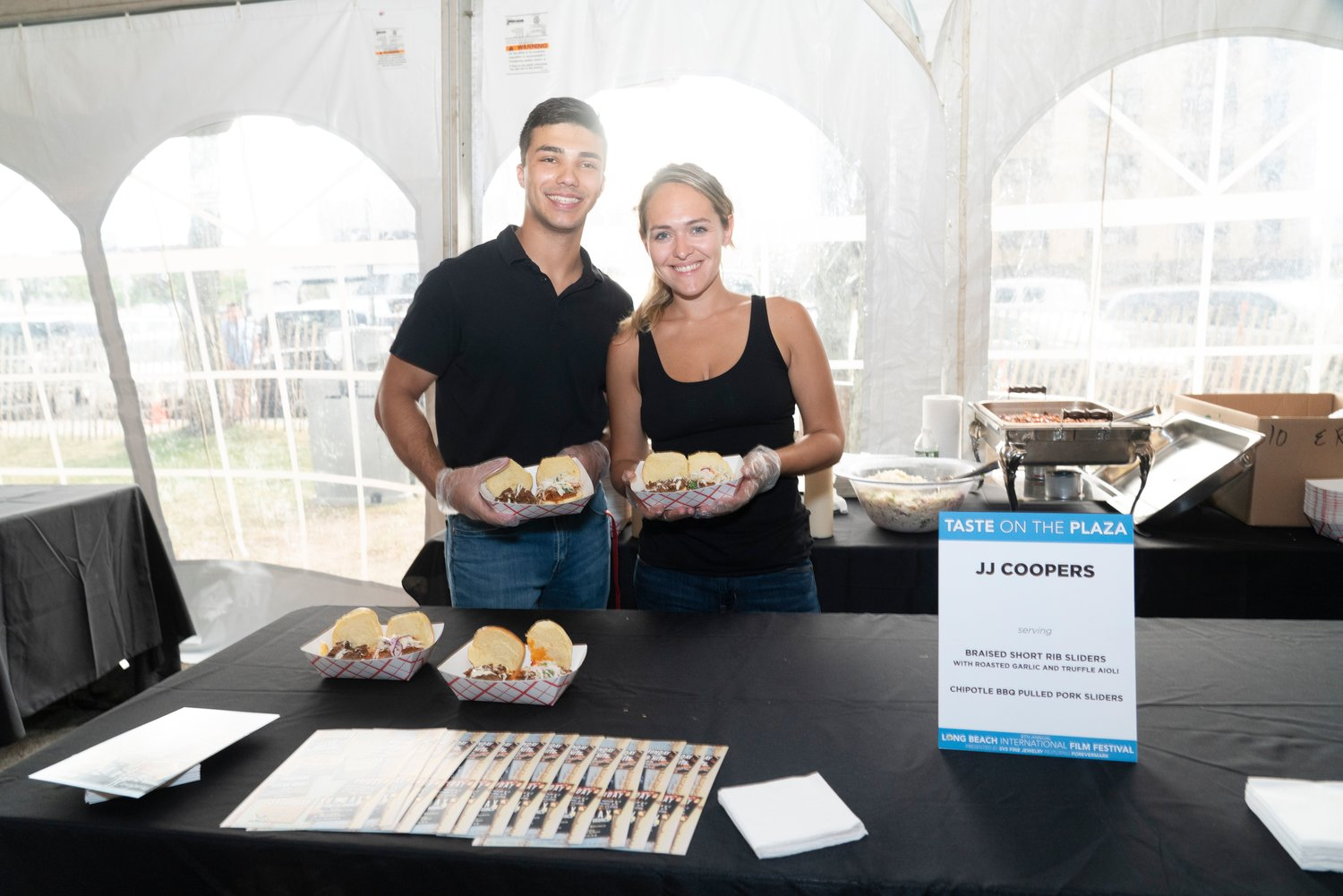 "Long Beach's JJ Coopers was among the more than 30 restaurants that took over Kennedy Plaza for the festival's opening night event, ""Taste on the Plaza."""