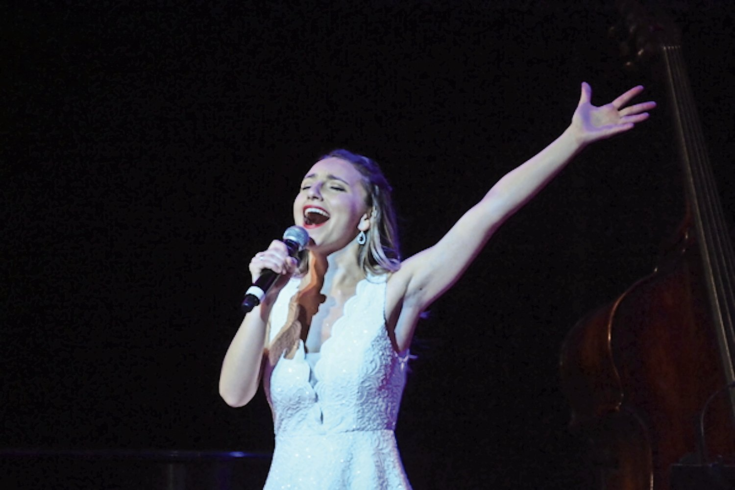 "John F. Kennedy graduate Mara Friedman, of Merrick, wowed the crowd at the 13th annual Broadway Rising Stars concert on July 22, singing ""Electricity"" from the Broadway show ""Billy Elliot."""