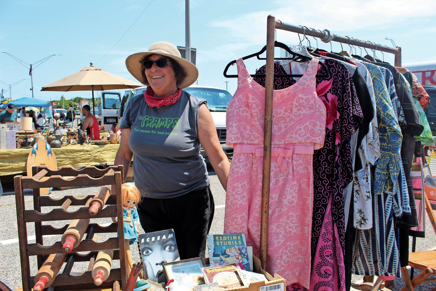 Merrie Dee, of Malverne, had her eyes on a pretty pink dress from the 1960s.