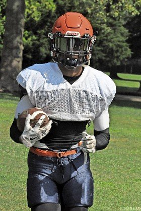 Jaelin Hood, a former standout receiver at Freeport High School, had a big freshman campaign at Nassau CC with 591 yards and nine touchdowns.
