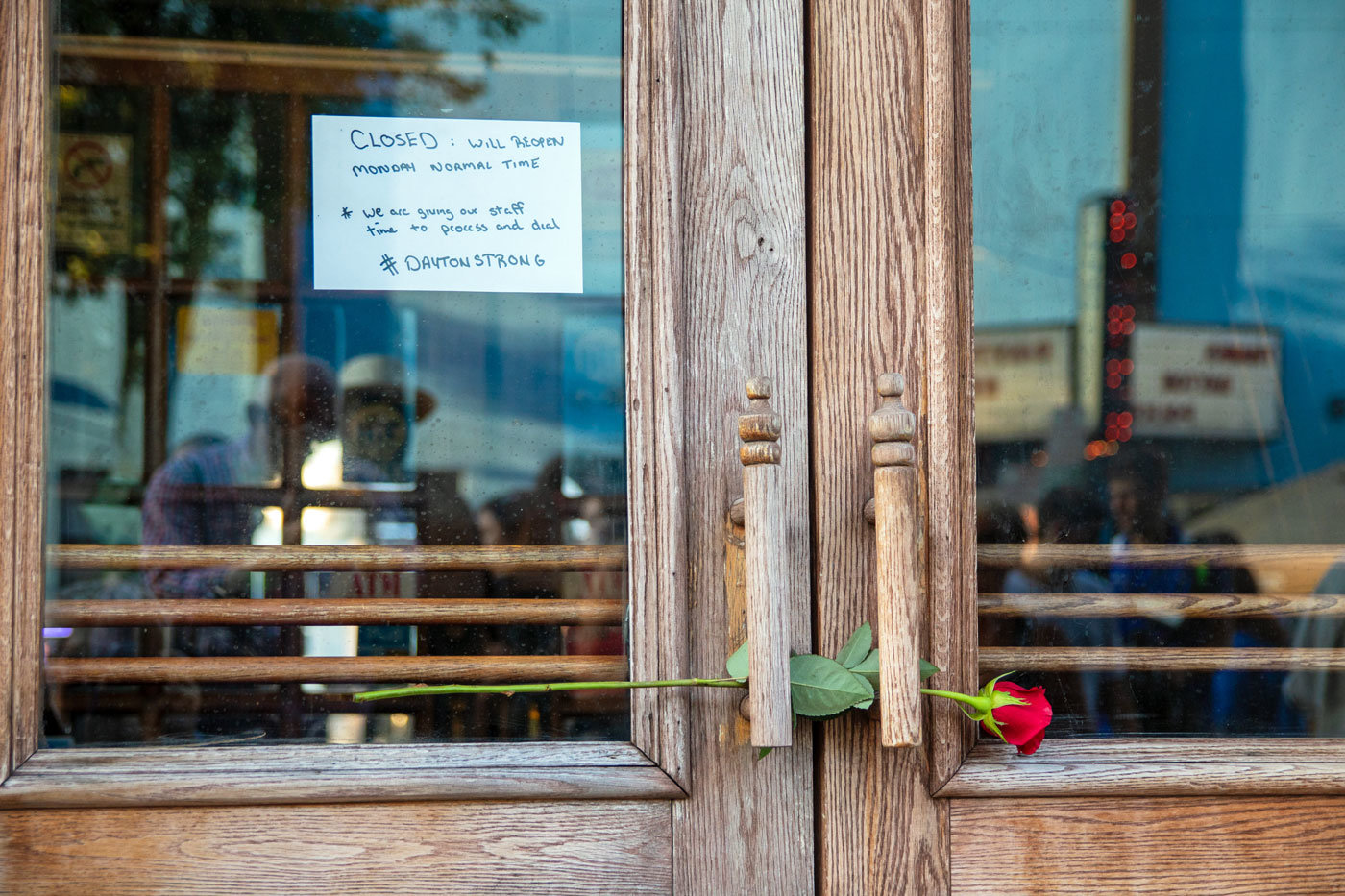 Ned Peppers Bar in Dayton, Ohio, was closed on Aug. 4, the day after nine people were killed near the bar's entrance.