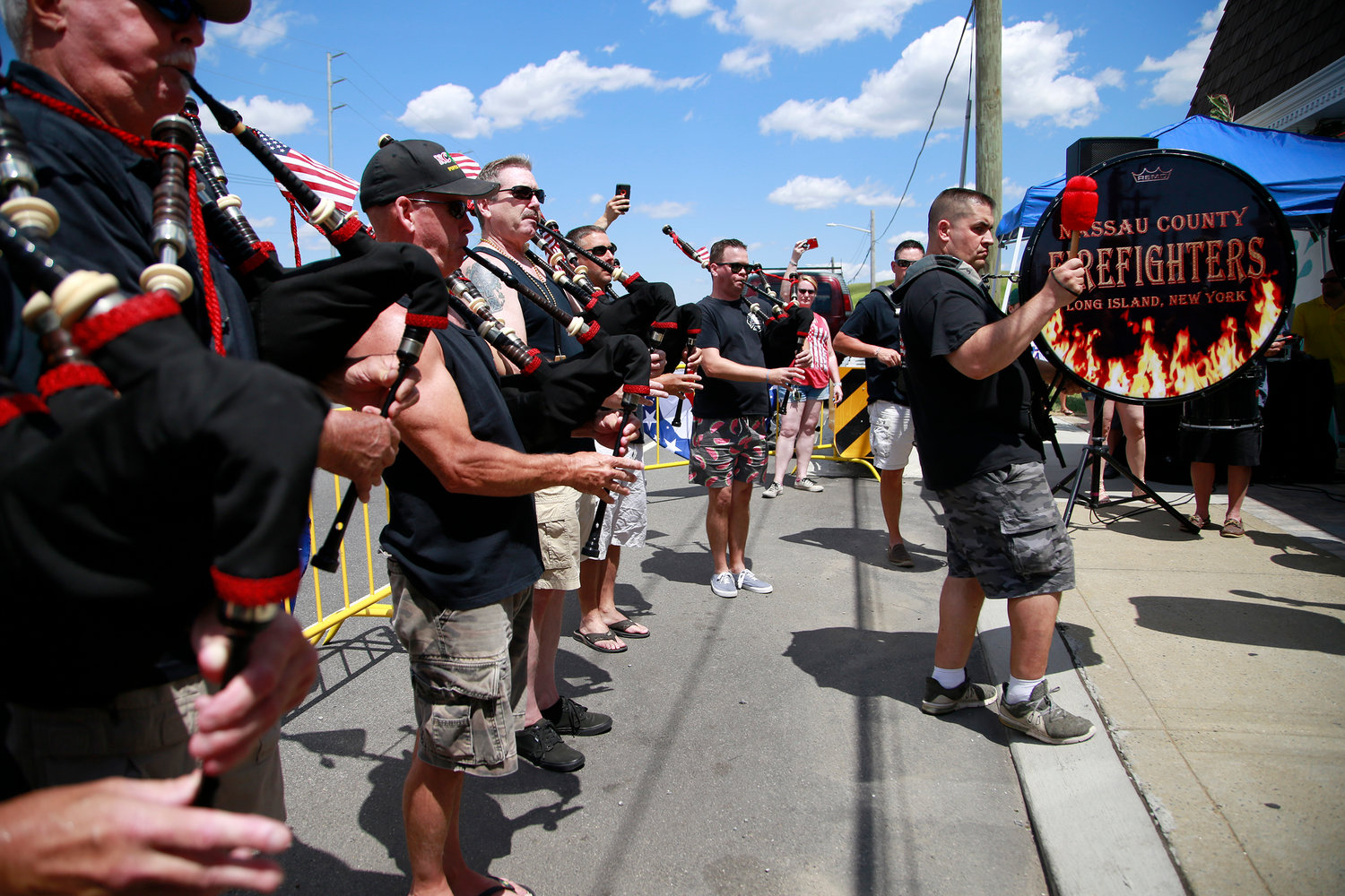 Proceeds benefitted the Nassau County Firefighters Pipes & Drums, which performed during the event.