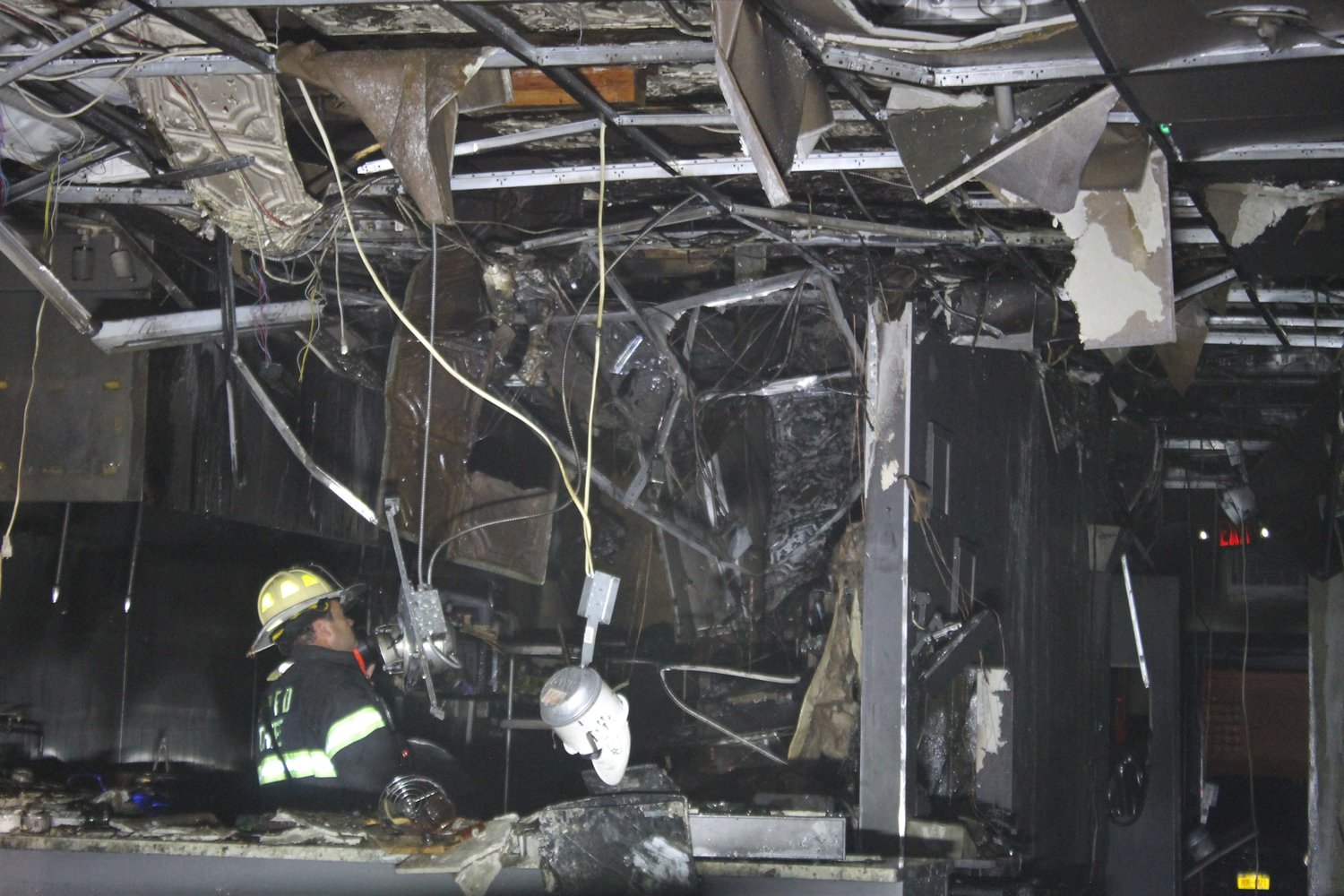 The fire caused significant damage.