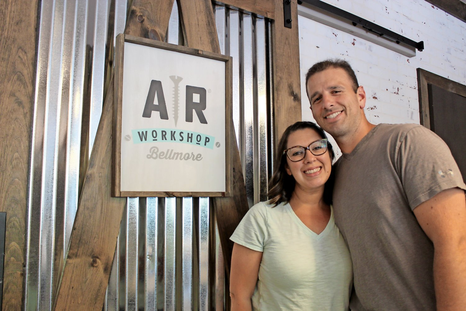 Bellmore residents Julie and Michael Alveari opened AR Workshop's Bellmore location earlier this year, giving the community a place to create and collaborate over DIY activities.