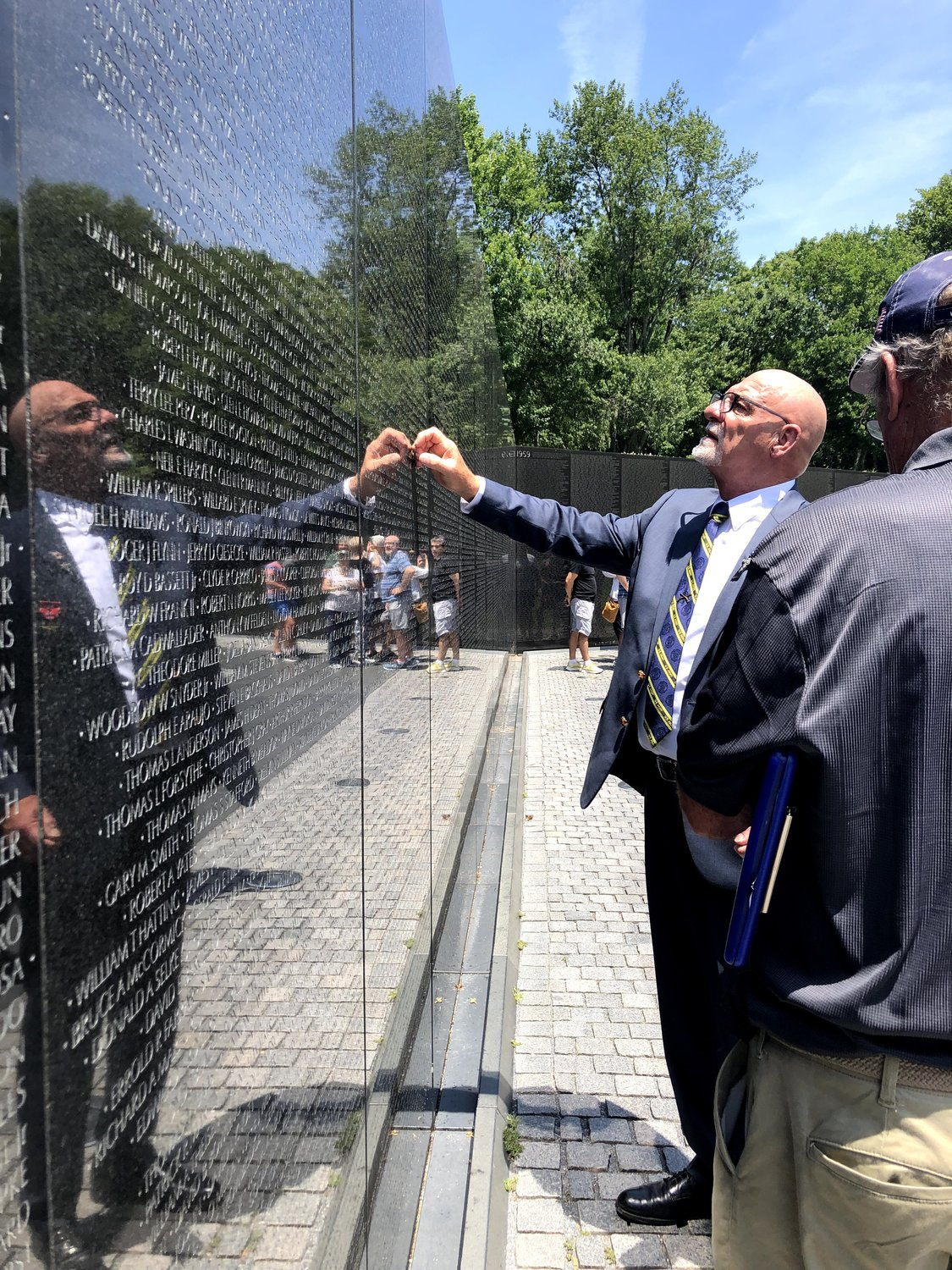 During his trip to Washington, Harold Jantz visited the Vietnam Veterans Memorial. He found the name of his comrade Lynwood Thornton, who was killed in action the night Jantz saved his platoon. Jantz, ordered to leave Thornton's body on the battlefield, refused.