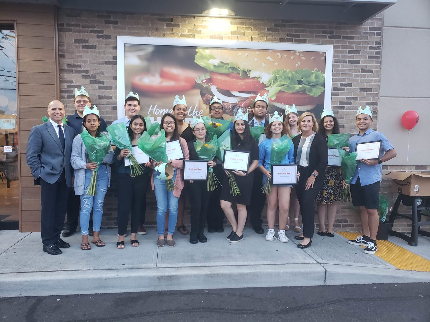 Nassau County Burger King's McLamore Scholarship recipients were awarded $1000 to go towards their college expenses on Aug. 2 at the Freeport location on East Merrick Road.
