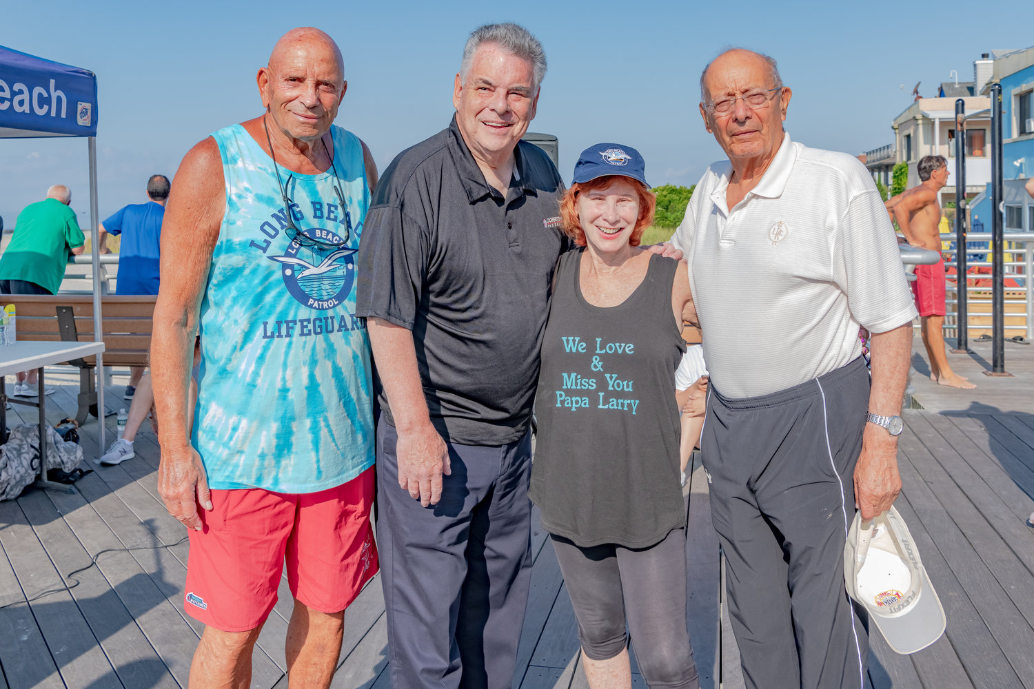 Former State Assemblyman Harvey Weisenberg, left, U.S. Rep. Peter King, Helen Elovich and former U.S. Sen. Al D'Amato.