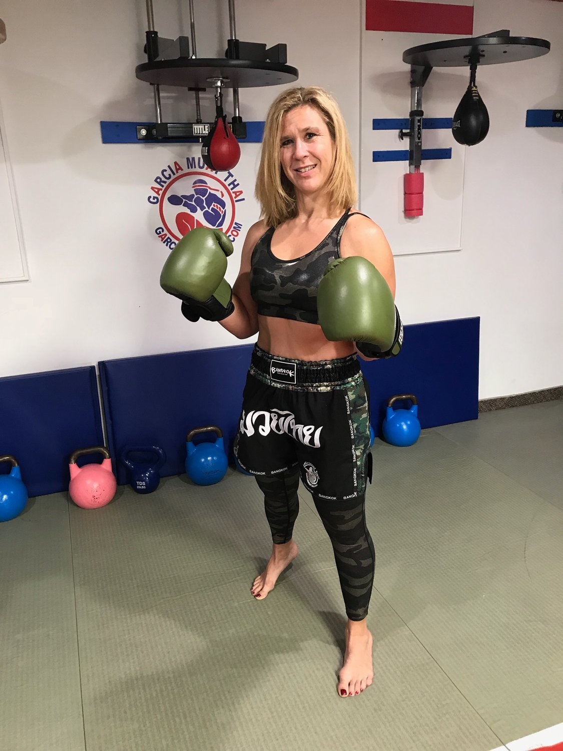 Lisa Margaritis held training sessions at Garcia Muay Thai seven days a week while also working as an instructor at a Lifetime Fitness gym and a cardiac nurse at Northwell Hospital in New Hyde Park.