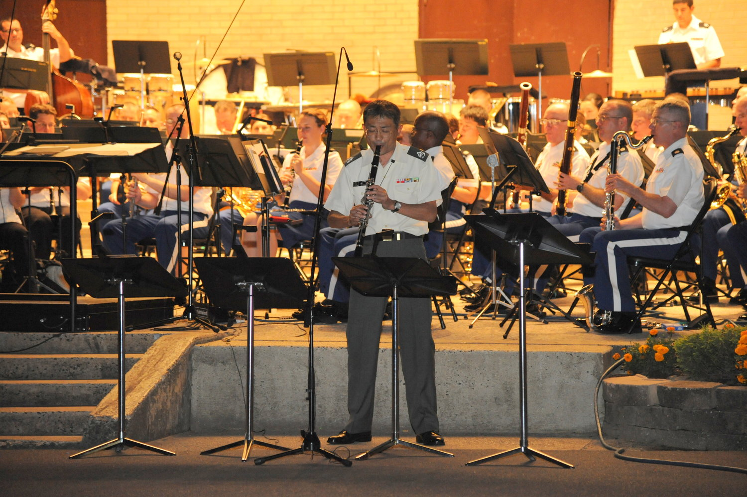 The West Point Concert Band, pictured in 2012, is returning to Valley Stream after a five-year absence.