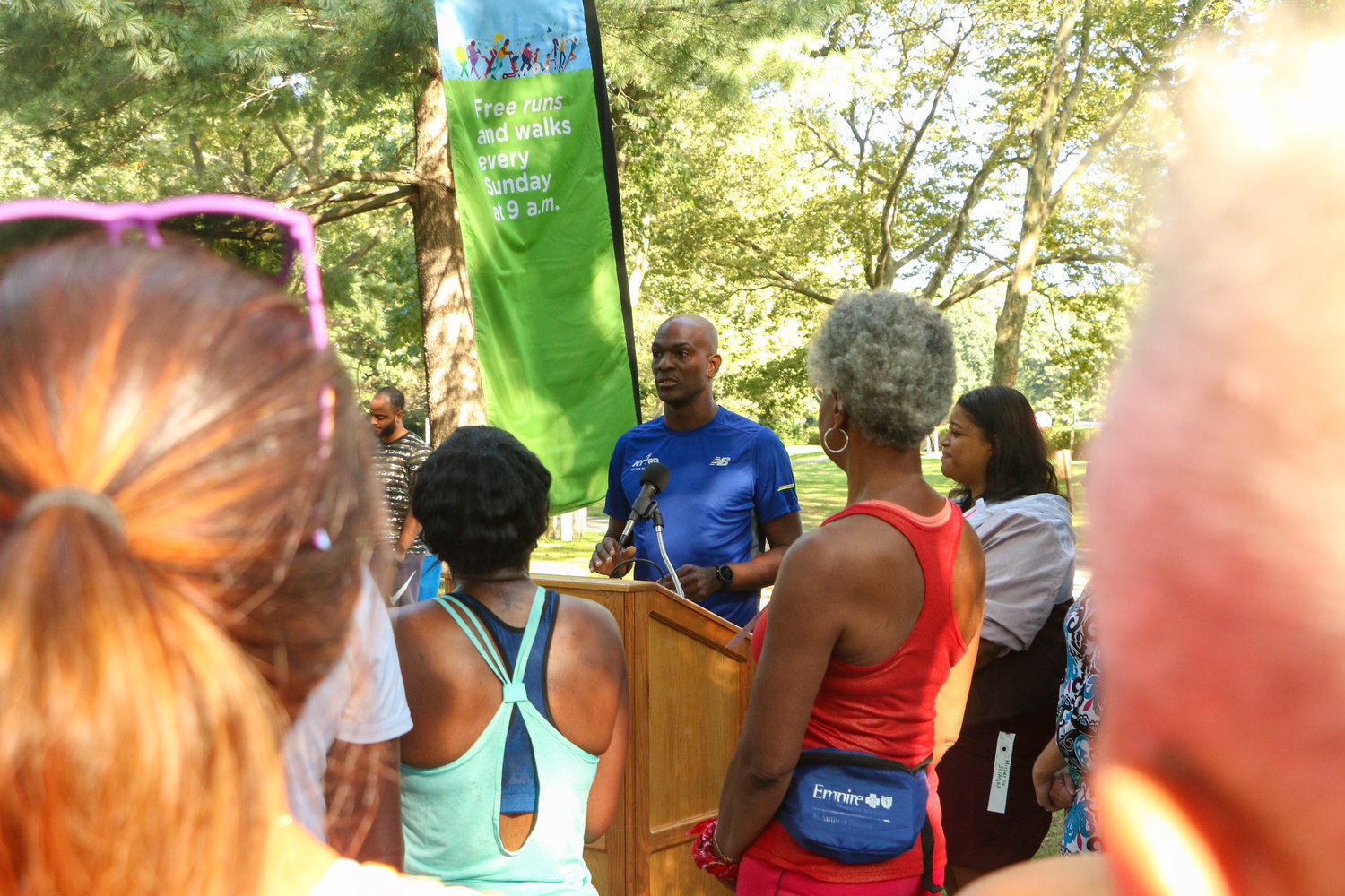 Michael Rodgers, NYRR vice president of young and community runner engagement greeted the crowd.