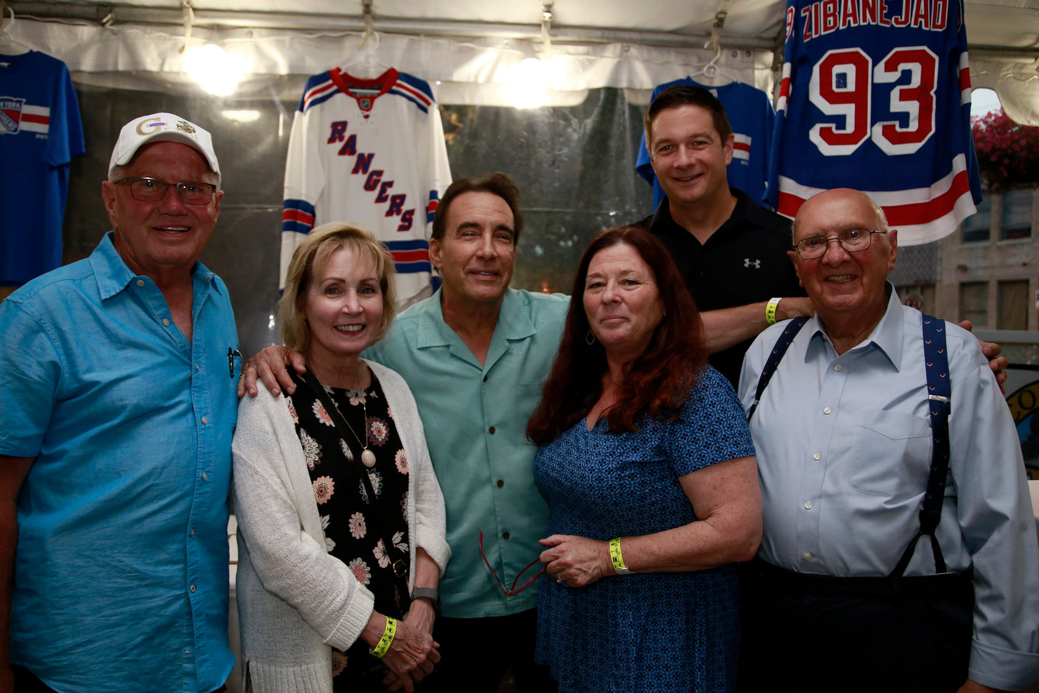 Steven McDonald Memorial Corporation members Ed Mahoney, left, Terry Emmel, Tom Begigno, Kathi Monroe, Carl Prizzi and Joseph Canzoneri hosted cocktail party fundraiser on Aug. 7.