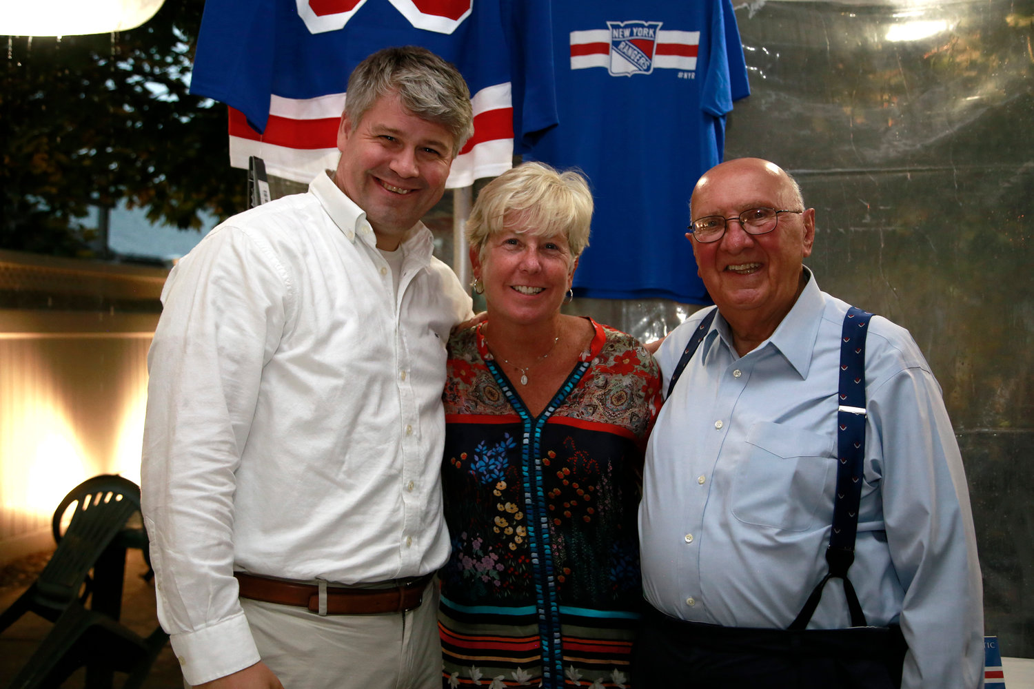 Malverne Mayor Keith Corbett, left, with former mayors Patti Ann McDonald and Joseph Canzoneri.