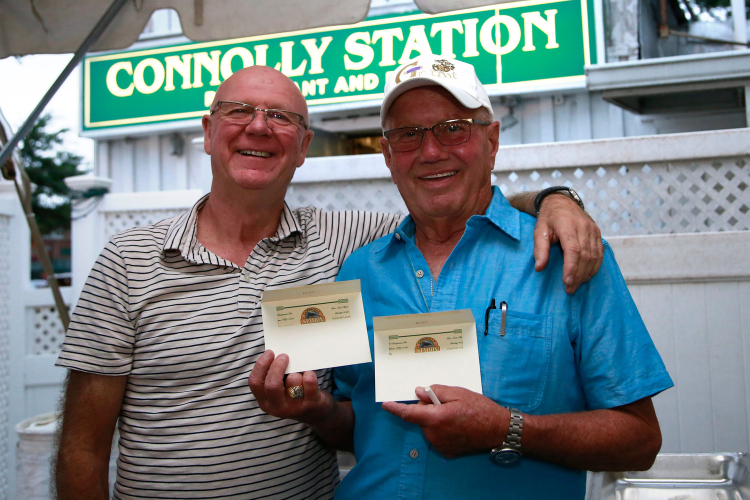 Connolly Station owner Gerry Hughes and Ed Mahoney.