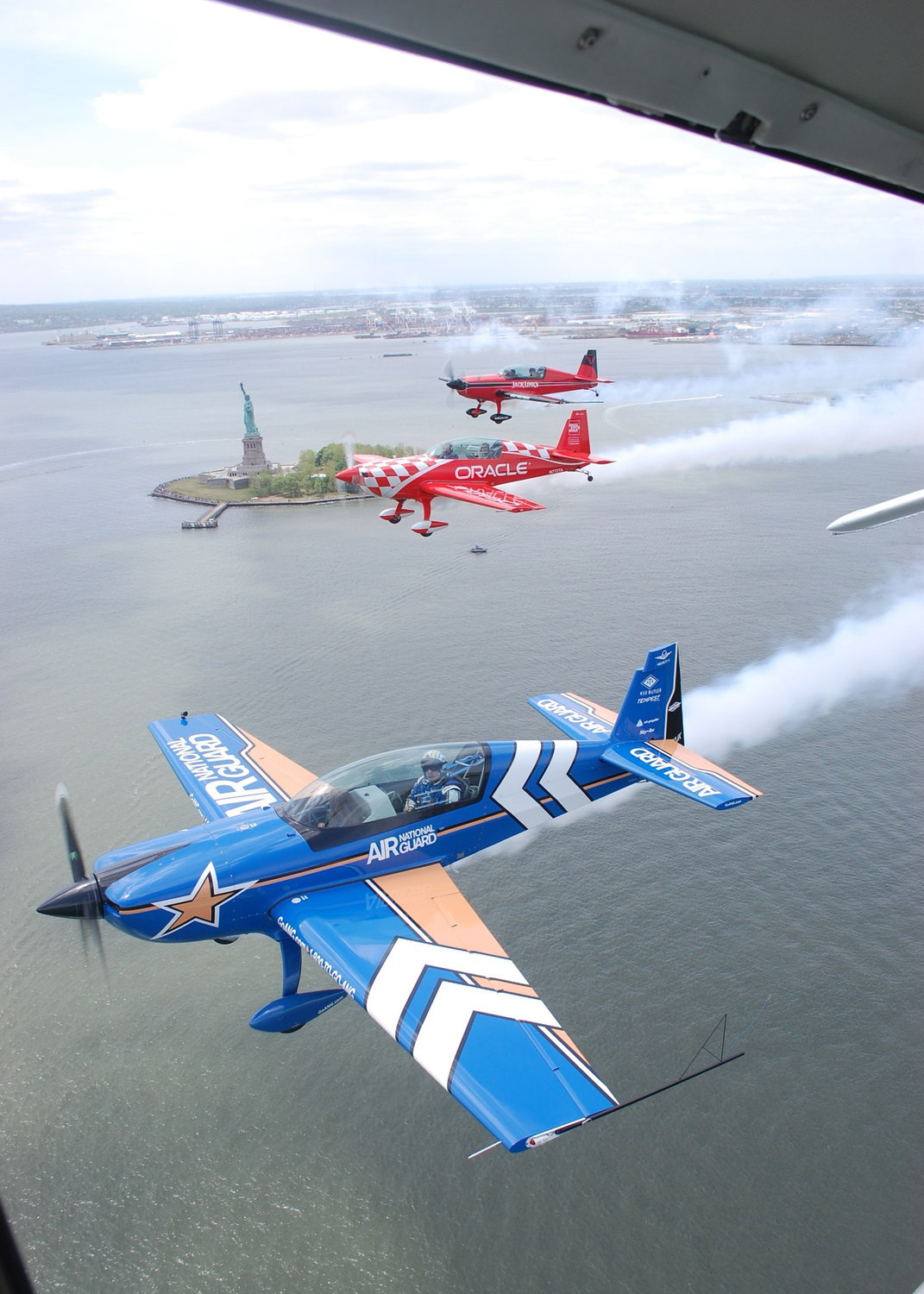 Some of the airborne acts on their way east to the 2015 Bethpage air show — the largest single event at the park.