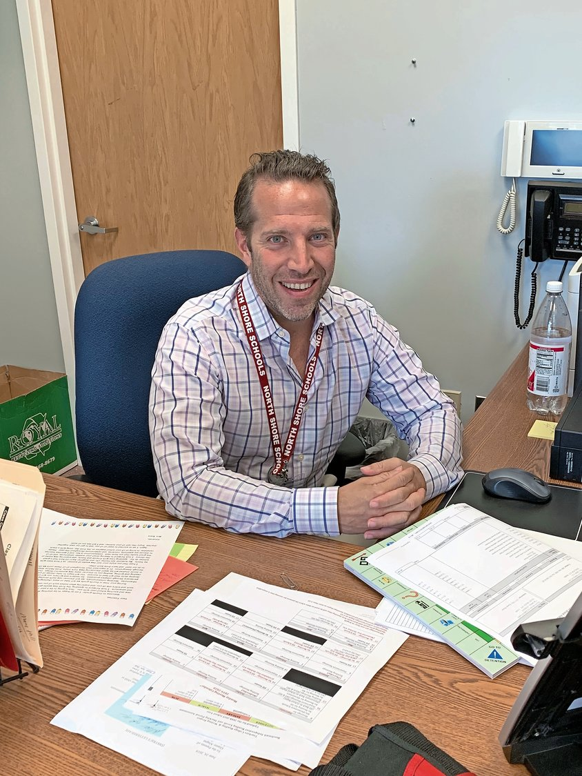 Although he is still in the process of decorating his office to match his enthusiastic personality, Dr. Peter Rufa is excited to begin work as the new principal of Glen Head Elementary School.