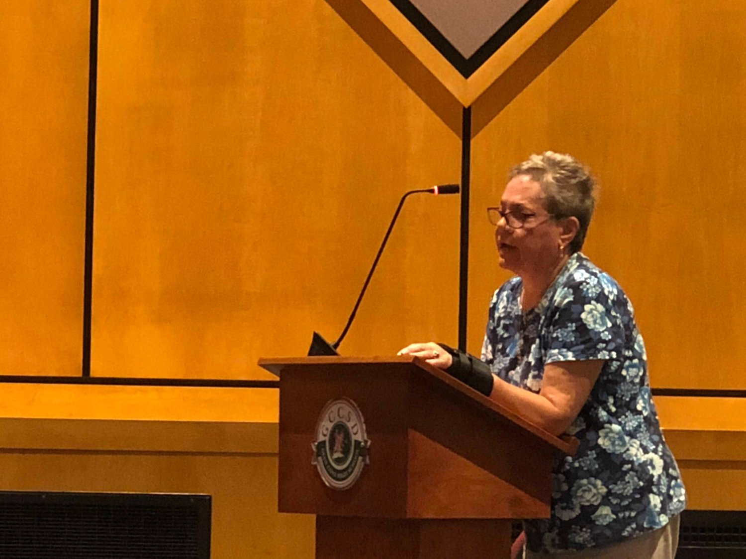 Glen Cove resident Janet Black said at the Aug. 14 Board of Education meeting that she opposed any reimbursement for property taxes on 31 Sea Cliff Ave. by the school district to the city.