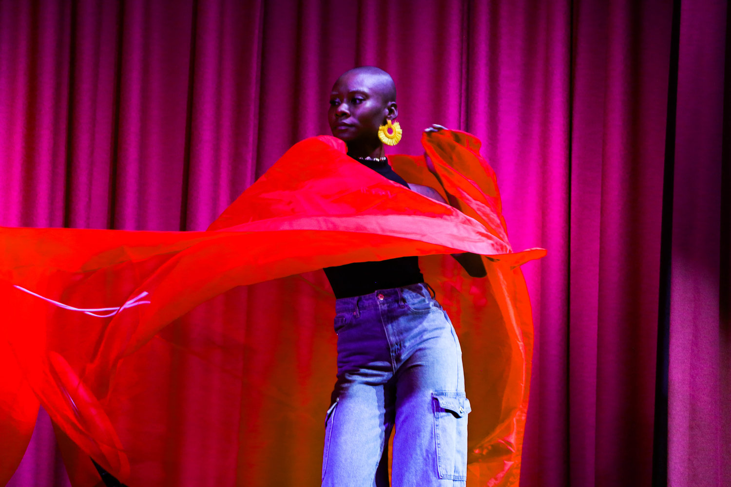 Jeaniqua McIntyre performed a dancing routine at the fashion show.