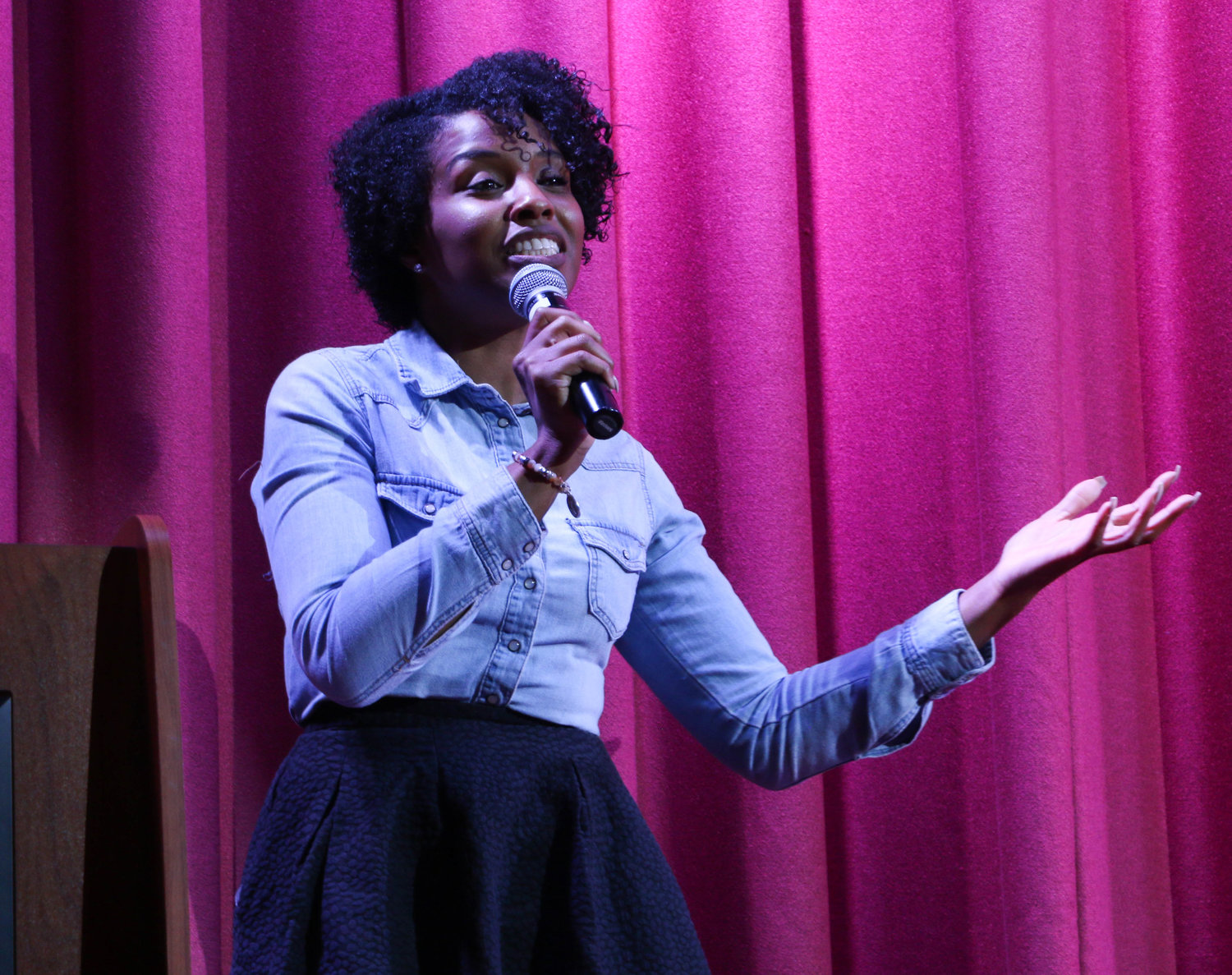Rachel-Jean Pierre was one of six guest speakers of the night and 